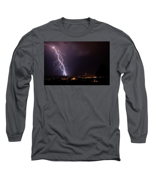 Long Sleeve T-Shirt featuring the photograph Monsoon Storm by Ron Chilston