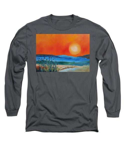 Montana Firery Sunset             49 Long Sleeve T-Shirt