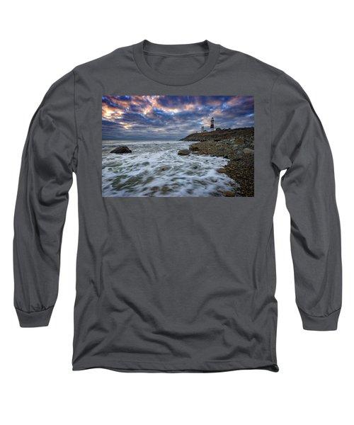 Montauk Morning Long Sleeve T-Shirt by Rick Berk