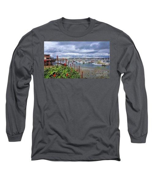 Monterey Marina Long Sleeve T-Shirt by Gina Savage