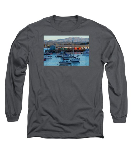 Monterey Wharf At Sunset Long Sleeve T-Shirt