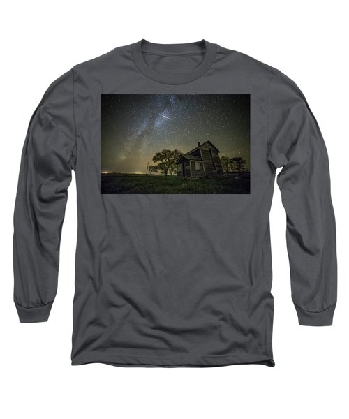 Long Sleeve T-Shirt featuring the photograph Montrose Orionid by Aaron J Groen