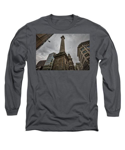 Monument To The Great Fire Of London Long Sleeve T-Shirt