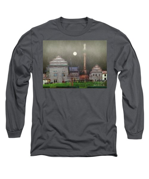 Long Sleeve T-Shirt featuring the photograph Monumental- Prague by Leigh Kemp