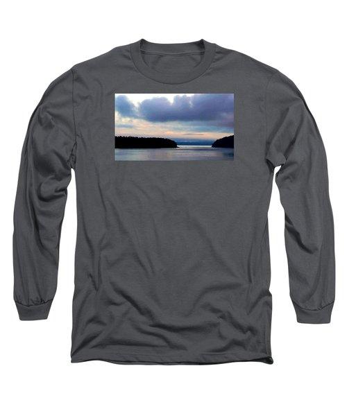 Moody Blue Long Sleeve T-Shirt