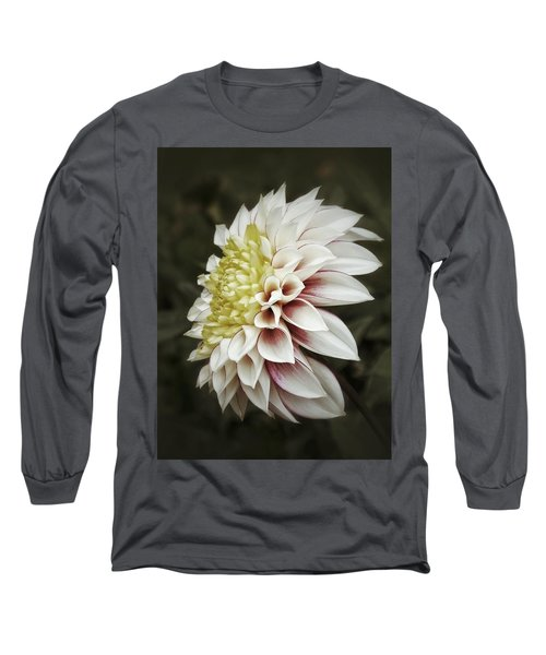 Long Sleeve T-Shirt featuring the photograph Moody Dahlia  by Karen Stahlros