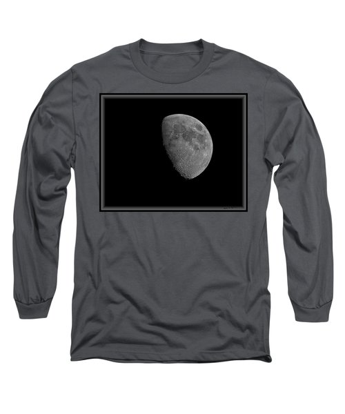 Long Sleeve T-Shirt featuring the photograph Moon 67 Percent Fr23 by Mark Myhaver