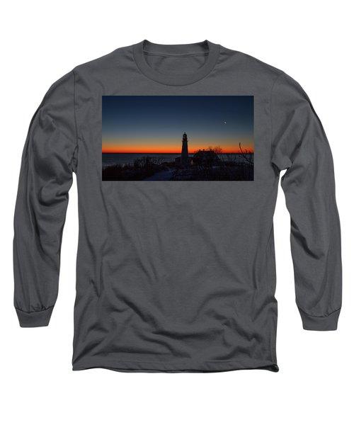Moon And Venus - Headlight Sunrise Long Sleeve T-Shirt