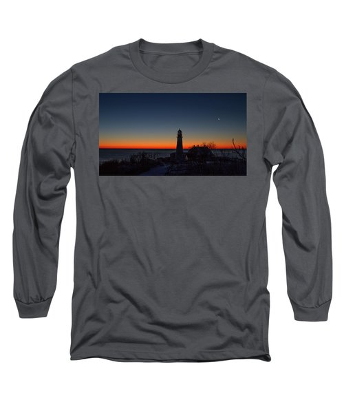 Moon And Venus - Headlight Sunrise Long Sleeve T-Shirt