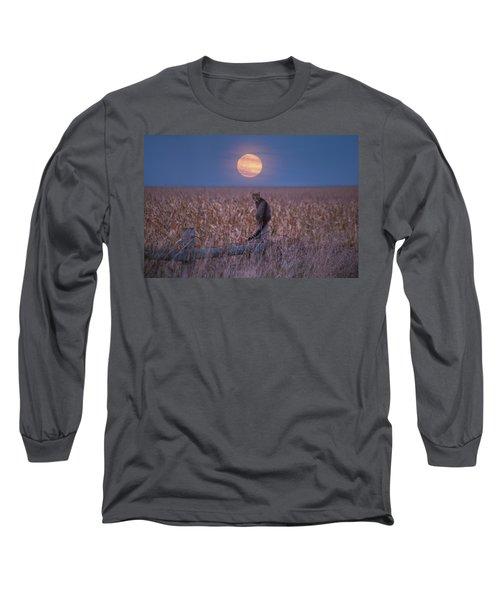 Moon Kitty  Long Sleeve T-Shirt