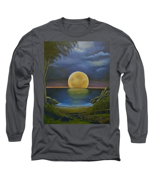 Moon Of My Dreams II Long Sleeve T-Shirt by Sheri Keith