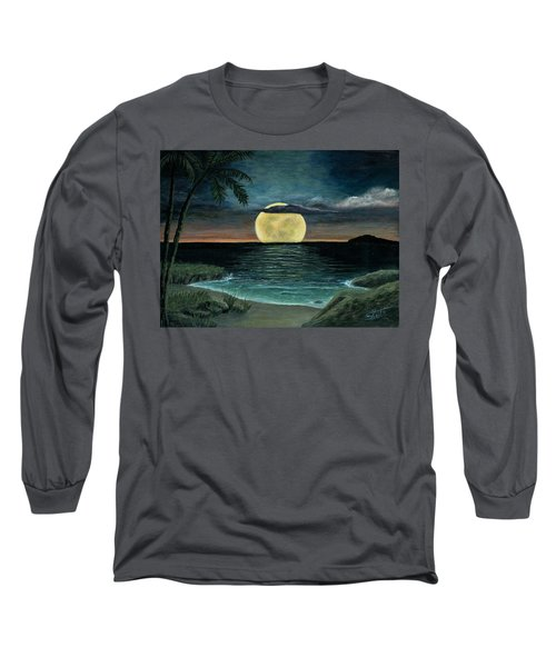 Moon Of My Dreams IIi Long Sleeve T-Shirt by Sheri Keith