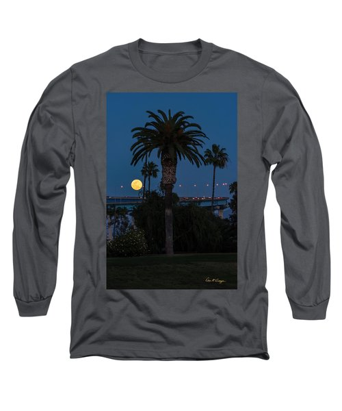 Long Sleeve T-Shirt featuring the photograph Moon On The Rise by Dan McGeorge