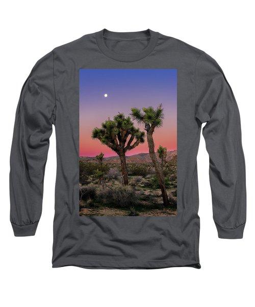 Moon Over Joshua Tree Long Sleeve T-Shirt