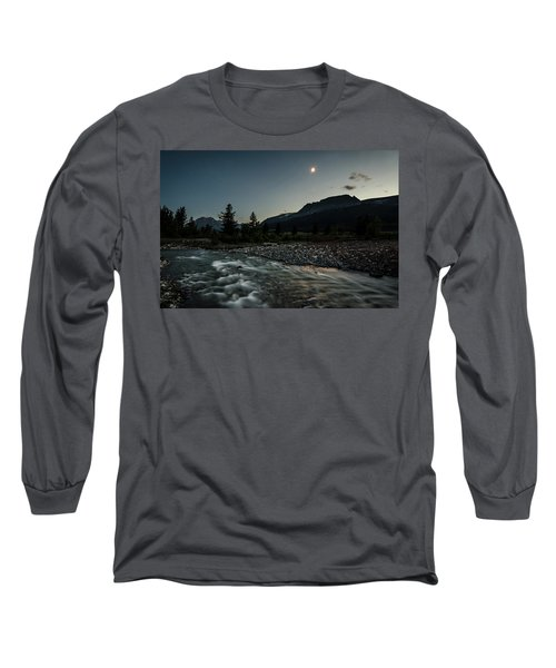 Moon Over Montana Long Sleeve T-Shirt