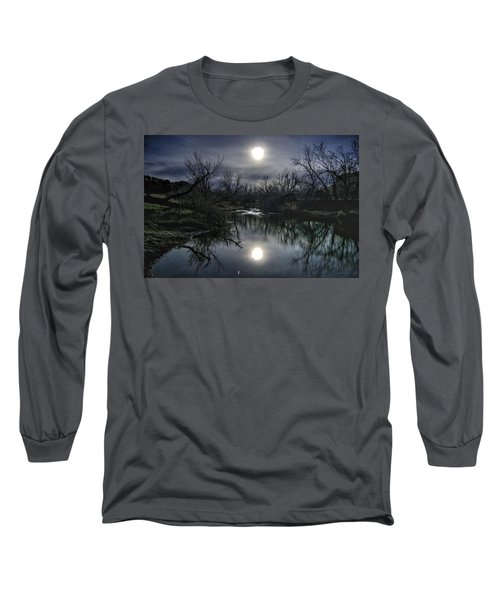 Moon Over Sand Creek Long Sleeve T-Shirt