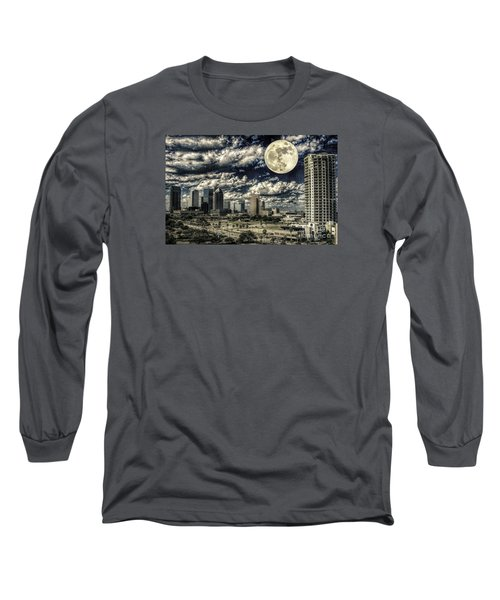 Moon Over Tampa One Long Sleeve T-Shirt by Ken Frischkorn