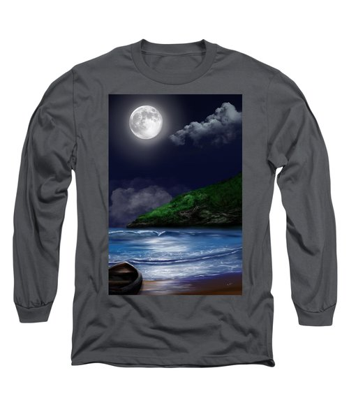 Moon Over The Cove Long Sleeve T-Shirt