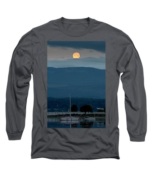 Moon Over The Spit Long Sleeve T-Shirt