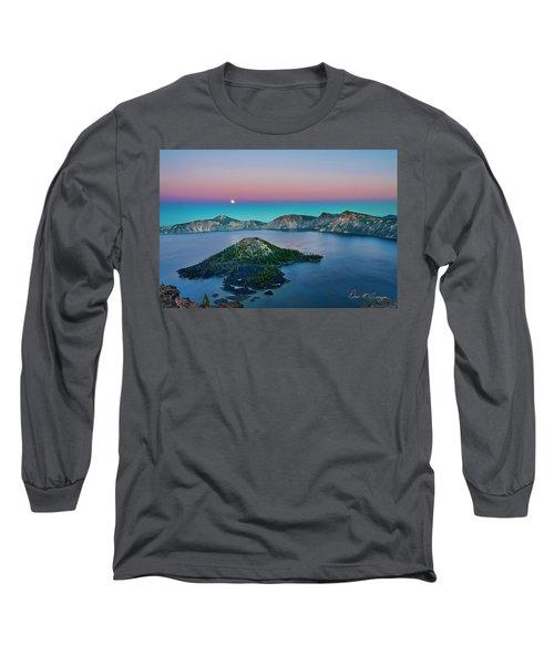 Moon Over Wizard Island Long Sleeve T-Shirt