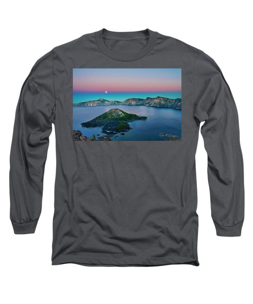 Moon Over Wizard Island Long Sleeve T-Shirt