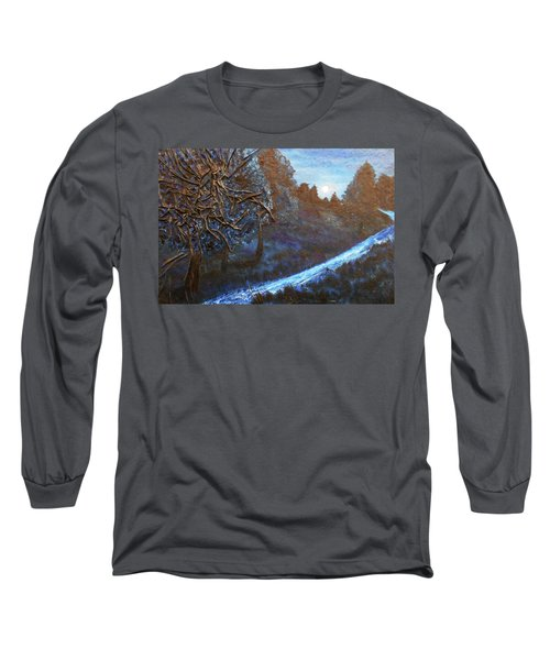 Long Sleeve T-Shirt featuring the mixed media Moon Rise  by Angela Stout