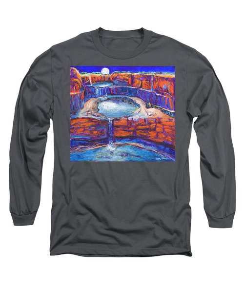 Moon Rising Over The Mitchell Falls Long Sleeve T-Shirt