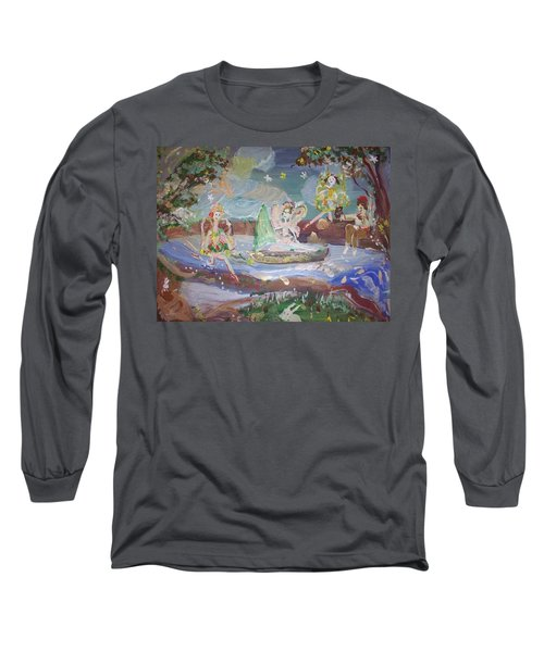 Moon River Fairies Long Sleeve T-Shirt by Judith Desrosiers