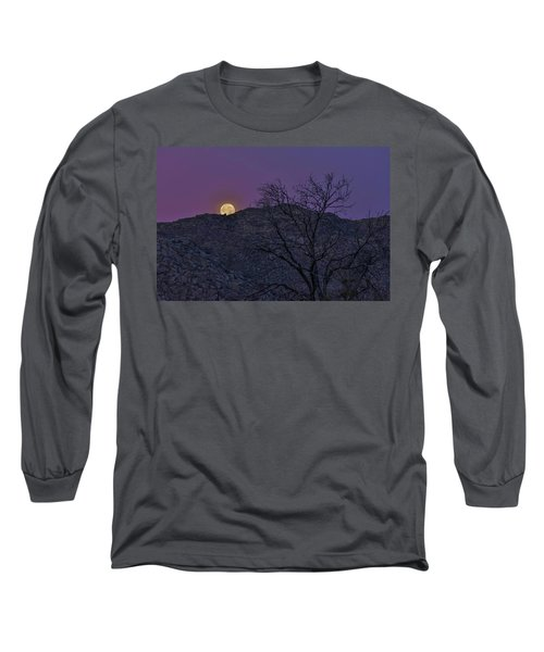 Moon Set At Sunrise Long Sleeve T-Shirt