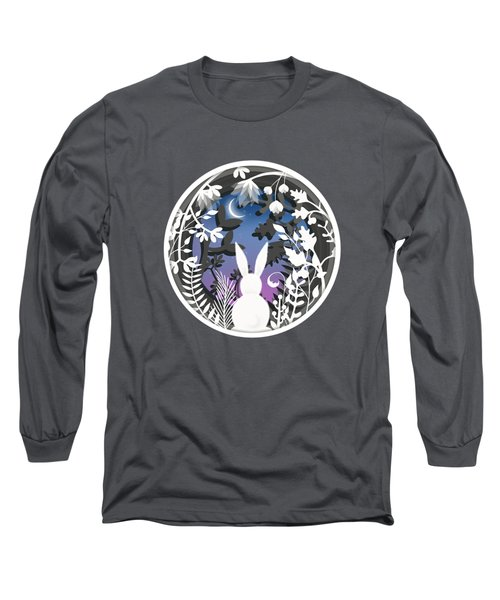 Moonlight Bunny Star Gazer Long Sleeve T-Shirt