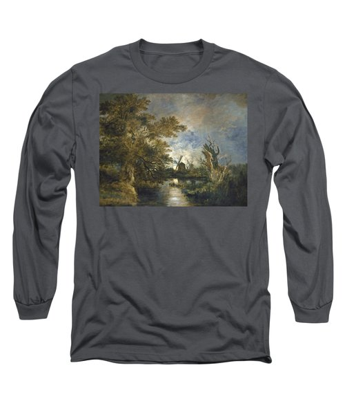 Moonlight On The Yare Long Sleeve T-Shirt