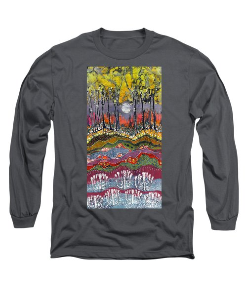 Moonlight Over Spring Long Sleeve T-Shirt