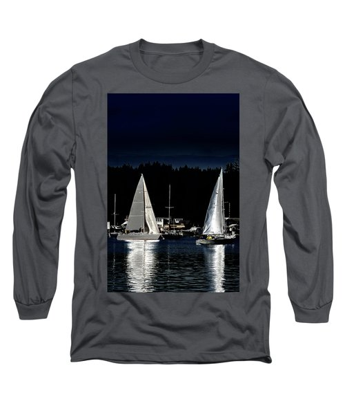 Long Sleeve T-Shirt featuring the photograph Moonlight Sailing by David Patterson