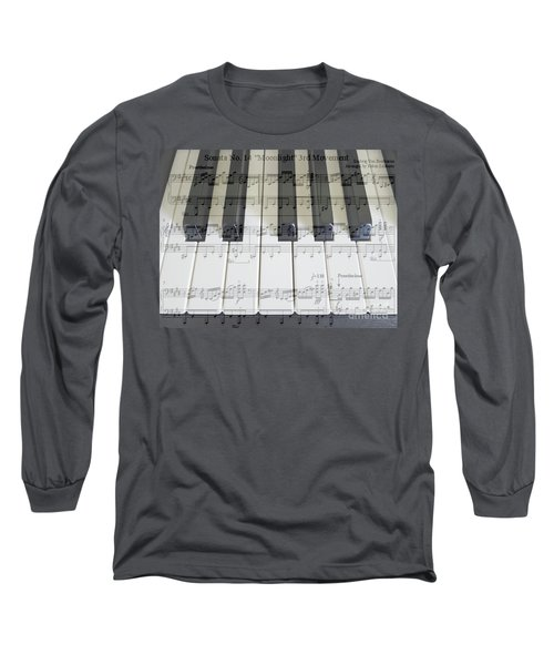 Moonlight Sonata 3rd Movement Long Sleeve T-Shirt by Hanza Turgul