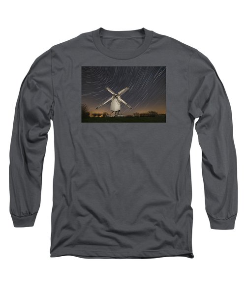 Moonlit Chillenden Windmill Long Sleeve T-Shirt