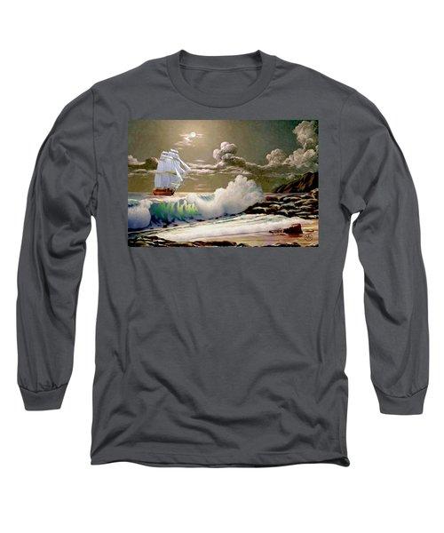 Moonlit Clipper Long Sleeve T-Shirt