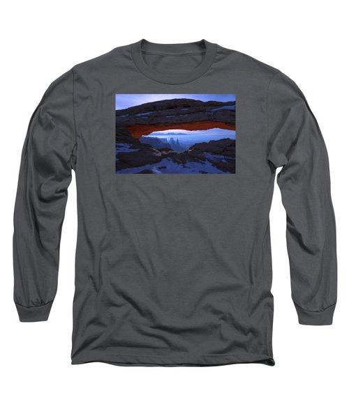 Moonlit Mesa Long Sleeve T-Shirt by Chad Dutson