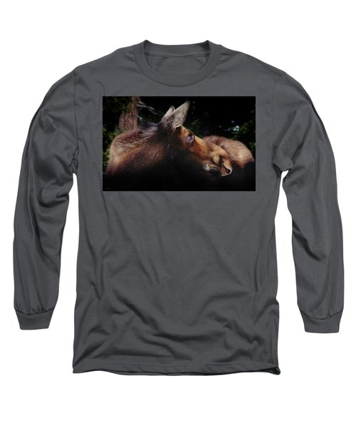 Moonlit Moose Long Sleeve T-Shirt