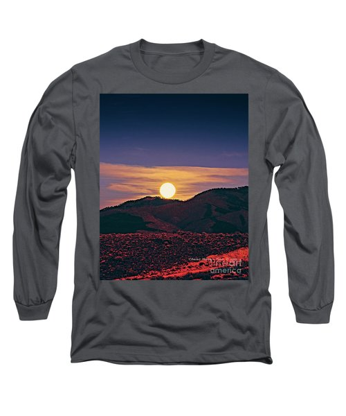 Moonrise In Northern New Mexico  Long Sleeve T-Shirt