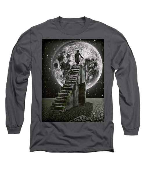 Moonrise Long Sleeve T-Shirt by Mihaela Pater