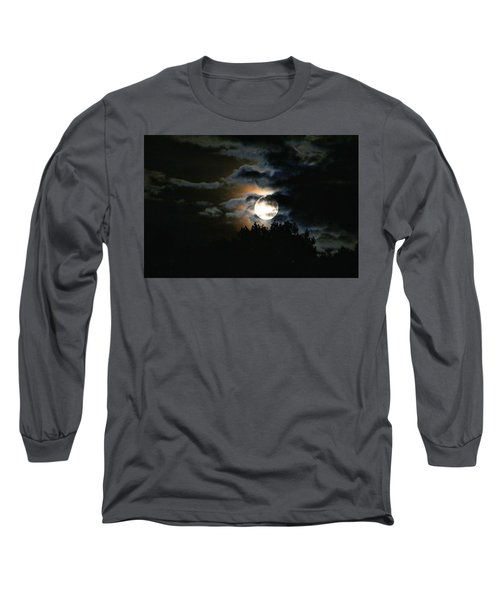 Moonset In The Clouds 2 Long Sleeve T-Shirt