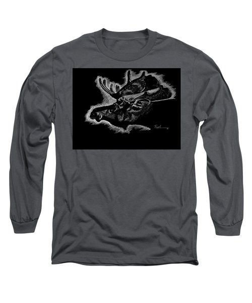 Moose Long Sleeve T-Shirt by Lawrence Tripoli