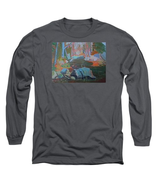 Long Sleeve T-Shirt featuring the painting Moose Lips Brook by Francine Frank