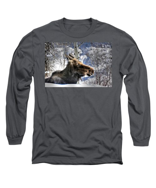 Moose On The Loose Long Sleeve T-Shirt