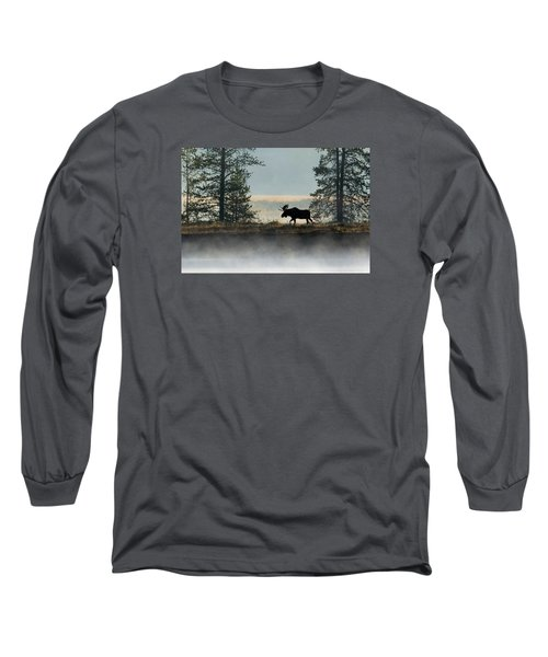 Moose Surprise Long Sleeve T-Shirt