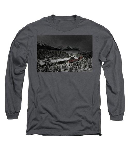 Morant's Curve - Winter Night Long Sleeve T-Shirt by Brad Allen Fine Art