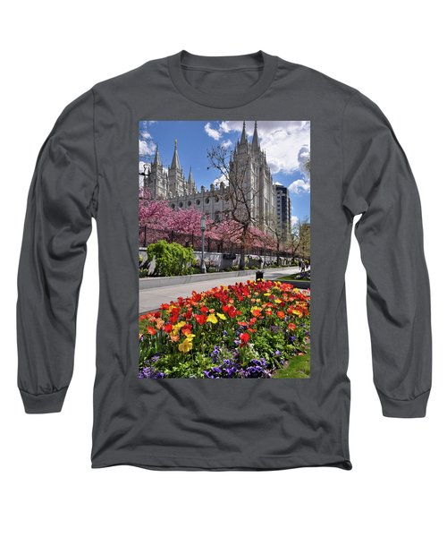 Mormon Temple Long Sleeve T-Shirt by Utah Images