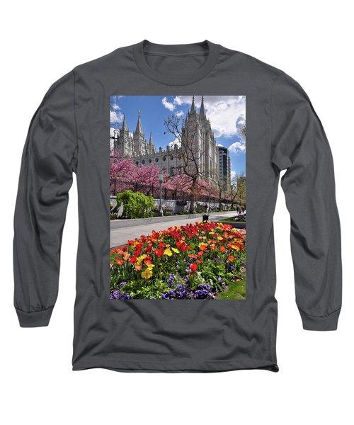 Mormon Temple Long Sleeve T-Shirt