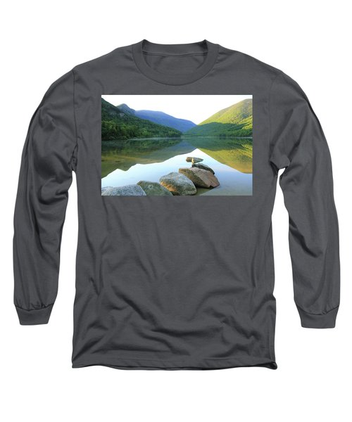Long Sleeve T-Shirt featuring the photograph Morning At Echo Lake by Roupen  Baker