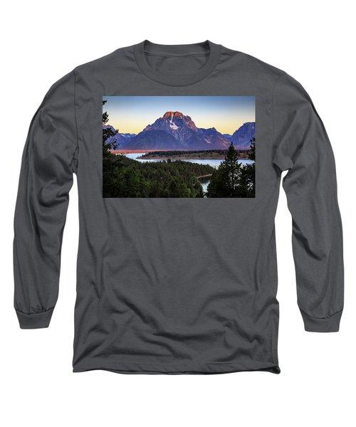 Morning At Mt. Moran Long Sleeve T-Shirt